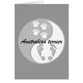 australischer Terrier yin Yang Karte