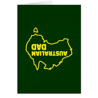 Australischer Vati - umgedrehter Witz Karte