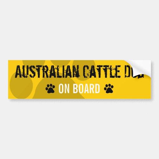 Australischer Vieh-Hund an Bord Autosticker