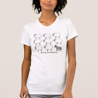 Australischer Vieh-Hund, der Schaf-T-Shirt in T-Shirt