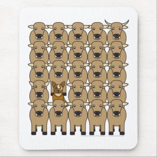 Australischer Vieh-Hund in der Herde Mousepad