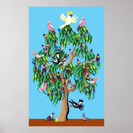 Australischer weihnachtsbaum poster zazzle for Weihnachtsbaum fa r fensterbank