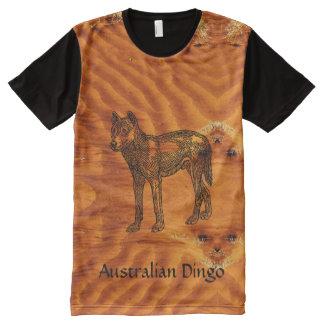 Australisches Dingot-shirt T-Shirt Mit Komplett Bedruckbarer Vorderseite