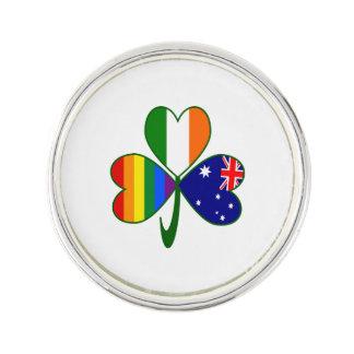 Australisches irisches Gay Pride-Kleeblatt Anstecknadel