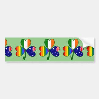 Australisches irisches Gay Pride-Kleeblatt Autoaufkleber