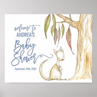 Australisches Känguru-Babyparty-Willkommen der Poster