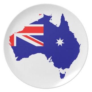 Australisches Land Flacher Teller