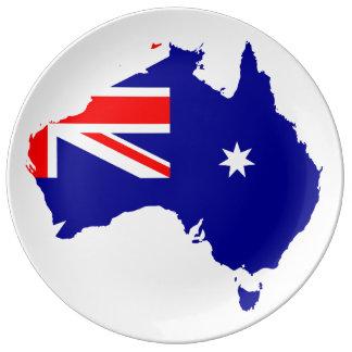 Australisches Land Teller Aus Porzellan