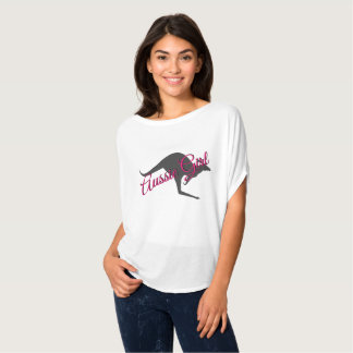Australisches Mädchen-Känguru-Australien-Shirt T-Shirt