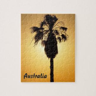 Australisches Puzzle der Fan-Palme