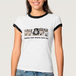 Australisches Schäfer-Welpen-Damen-Shirt T-Shirt