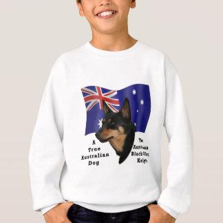 Australisches Schwarzes und TANKelpie mit Flagge Sweatshirt