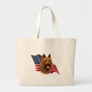 Australisches Terrier-Flagge Jumbo Stoffbeutel