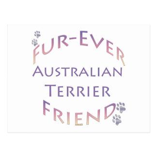 Australisches Terrier Furever Postkarte