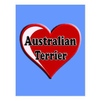 Australisches Terrier-Herz für Hundeliebhaber Postkarte