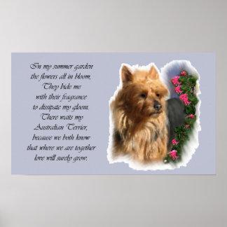 Australisches Terrier-Kunst-Geschenke Poster