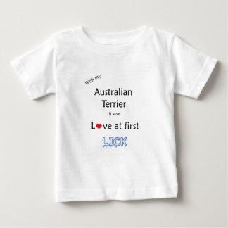 Australisches Terrier lecken Entwurf Baby T-shirt