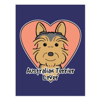 Australisches Terrier-Liebhaber Postkarte