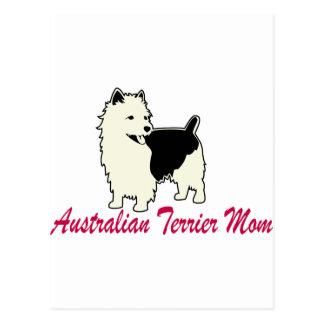 Australisches Terrier-Mamma Postkarte