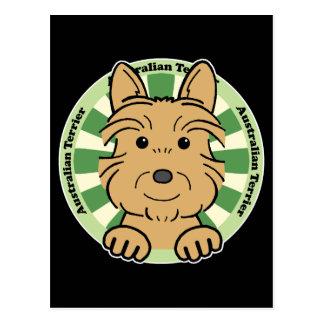 Australisches Terrier Postkarte