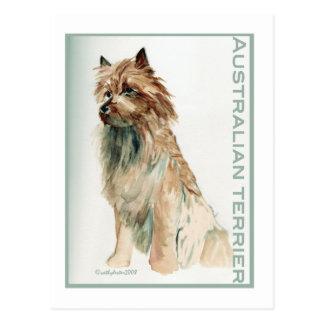 Australisches Terrier sitzen Postkarte