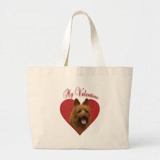 Australisches Terrier-Valentinsgruß Jumbo Stoffbeutel