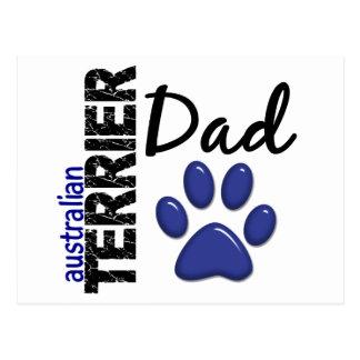 Australisches Terrier-Vati 2 Postkarte