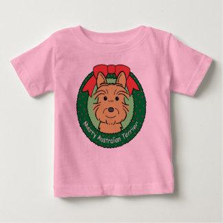 Australisches Terrier-Weihnachten Baby T-shirt