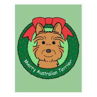 Australisches Terrier-Weihnachten Postkarte