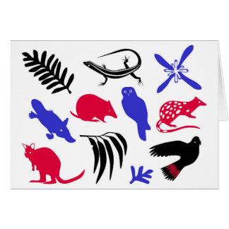 Australisches Tiergrußkartenblau/-ROT Karte