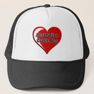 Australisches Vieh-Hundehundeherz für Truckerkappe