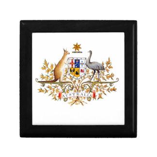 australisches Wappen Kleine Quadratische Schatulle