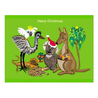 Australisches Weihnachten Postkarte