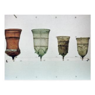 Auswahl der Frankish Gläser, 4.-. Jahrhundert Postkarte