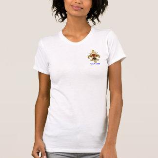"""Auswahl des Monogramm-Lilien-Buchstabe-""""J"""" Ihre T-Shirt"""