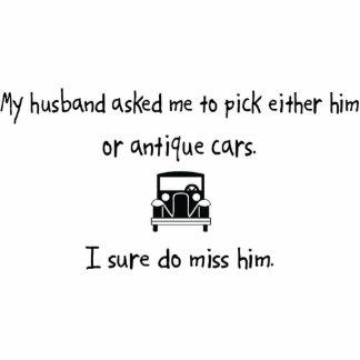 Auswahl-Ehemann oder antike Autos Photoausschnitt