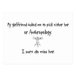 Auswahl-Freundin oder Anthropologie Postkarte
