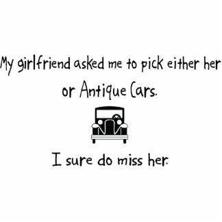 Auswahl-Freundin oder antike Autos Photo Figur