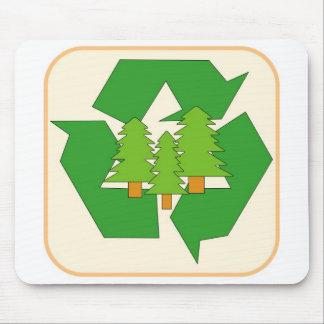 Auswechselbares grünes Ressourcen-Zeichen Mauspads