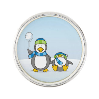 Ausweitende Pinguine Anstecknadel