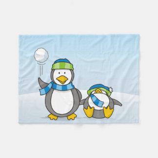 Ausweitende Pinguine Fleecedecke