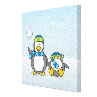 Ausweitende Pinguine Leinwanddruck
