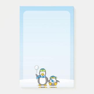 Ausweitende Pinguine Post-it Klebezettel