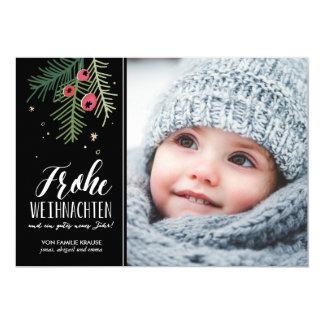 Auswendiges Beeren | Frohe Weihnachten 12,7 X 17,8 Cm Einladungskarte