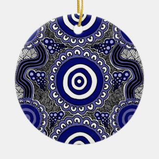 Authentische eingeborene Kunst - Ansammlung Rundes Keramik Ornament
