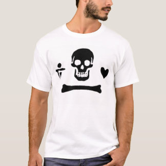 Authentische Piratenflagge Stede Mütze T-Shirt