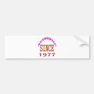 Authentische seit 1978 Geburtstags-Entwürfe Autoaufkleber