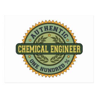 Authentischer Chemieingenieur Postkarte