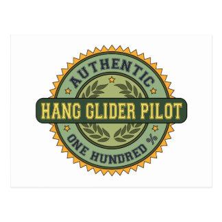 Authentischer Fall-Segelflugzeug-Pilot Postkarte