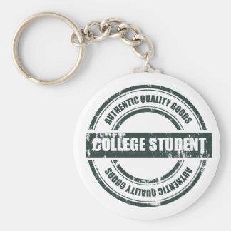 Authentischer Uni-Student Standard Runder Schlüsselanhänger